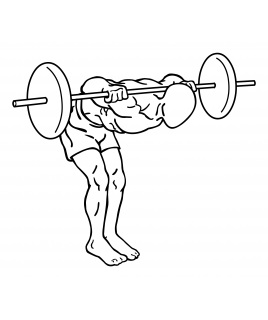 Barbell good mornings small frame 2
