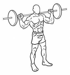 Barbell lunges small frame 1