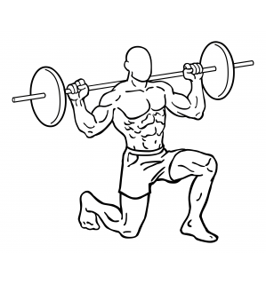 Barbell lunges small frame 2