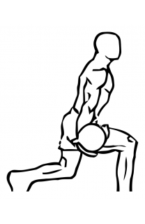Bicep curl lunge with bowling motion small frame 2