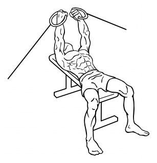 Flat bench cable flys small frame 2