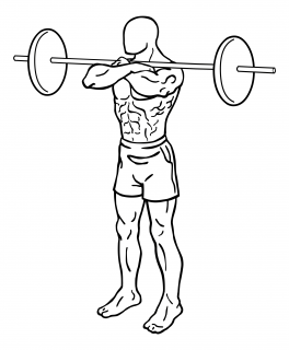 Front squat with barbell small frame 1