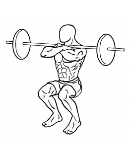 Front squat with barbell small frame 2