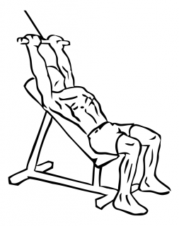 Incline pushdown with cable small frame 1
