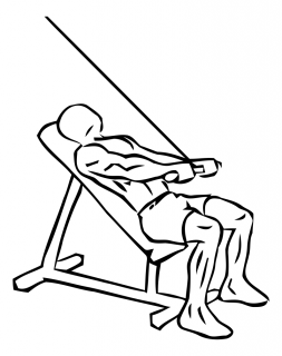 Incline pushdown with cable small frame 2