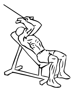 Incline triceps extension with cable small frame 1