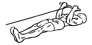 Lying bicep cable curl small frame 2