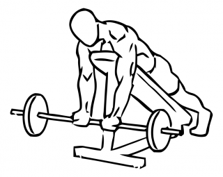 Lying incline curl with barbell small frame 1