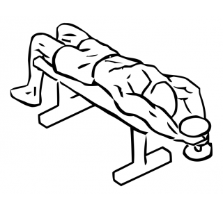 Lying triceps extension with dumbbells small frame 2