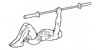 One arm barbell floor press small frame 1