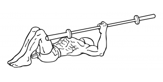 One arm barbell floor press small frame 2