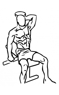 One arm triceps extension with dumbbell small frame 1