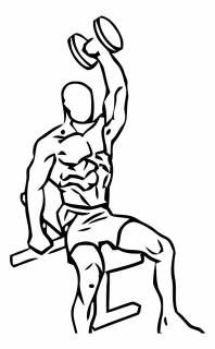 One arm triceps extension with dumbbell small frame 2