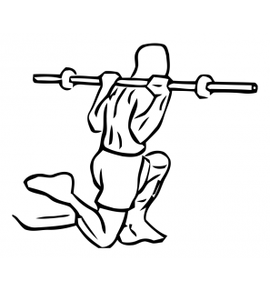 One leg squat with barbell small frame 2