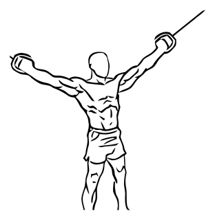 Overhead curl with cable small frame 1