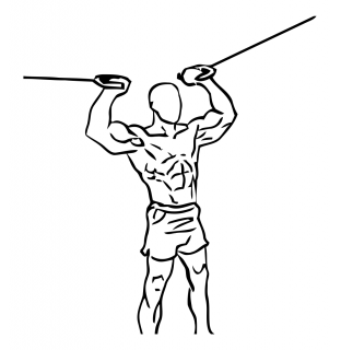 Overhead curl with cable small frame 2