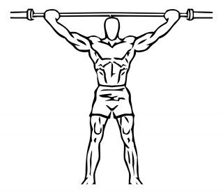 Overhead squat with barbell small frame 1