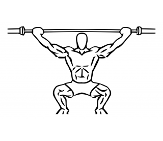 Overhead squat with barbell small frame 2