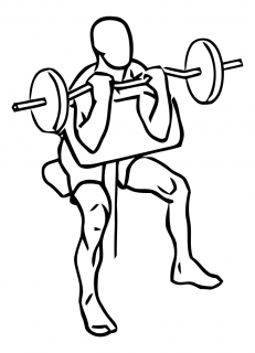 Preacher curl with barbell small frame 2