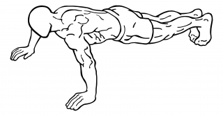 Push ups close and wide hand versions small frame 1