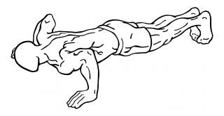 Push ups close and wide hand versions small frame 2