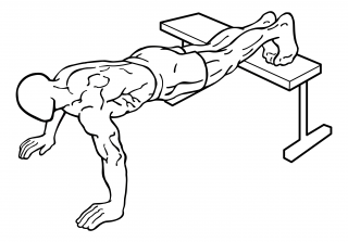 Push ups with feet elevated small frame 1