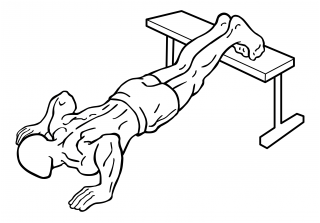 Push ups with feet elevated small frame 2