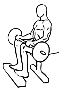 Seated calf raise with barbell small frame 1