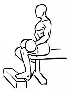 Seated one leg calf raise with dumbbell small frame 1