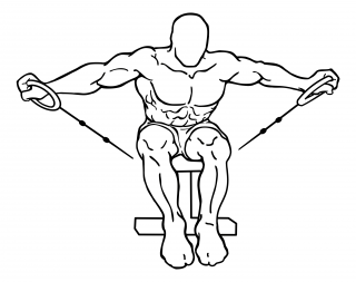 Seated rear lateral cable raise small frame 1