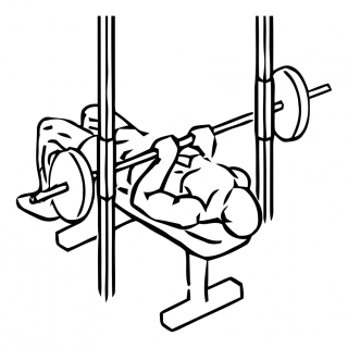 Smith machine close grip bench press small frame 2