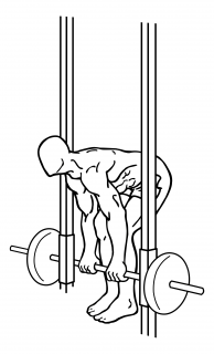 Smith machine dead lifts small frame 1