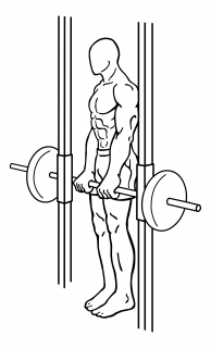 Smith machine dead lifts small frame 2