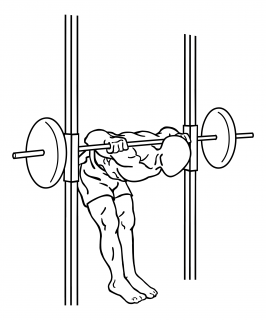 Smith machine good mornings small frame 1