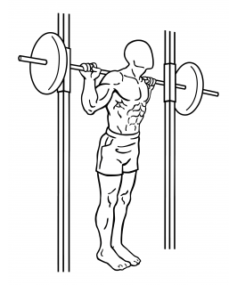 Smith machine good mornings small frame 2