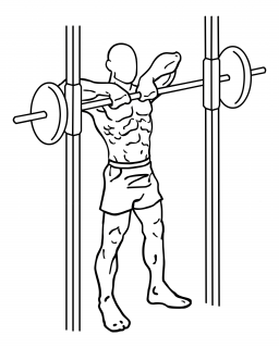 Smith machine upright row small frame 2