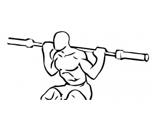 Speed squats with barbell small frame 2