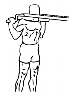 Standing calf raises using machine small frame 2
