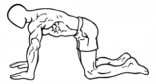 Stationary abdominal draw in small frame 1