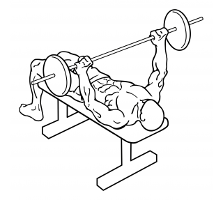Wide grip bench press small frame 2