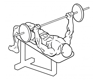 Wide grip decline bench press small frame 1