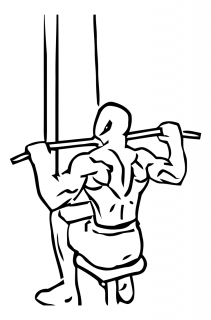 Wide grip lat pull down small frame 1