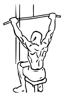 Wide grip lat pull down small frame 2