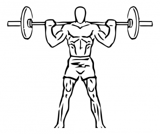 Wide stance squat with barbell small frame 1
