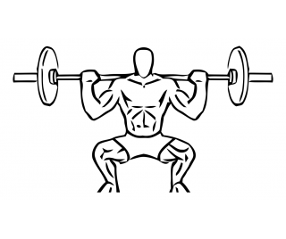 Wide stance squat with barbell small frame 2